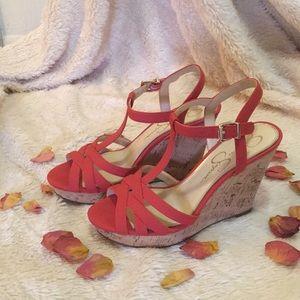 Jessica Simpson wedge sandals.